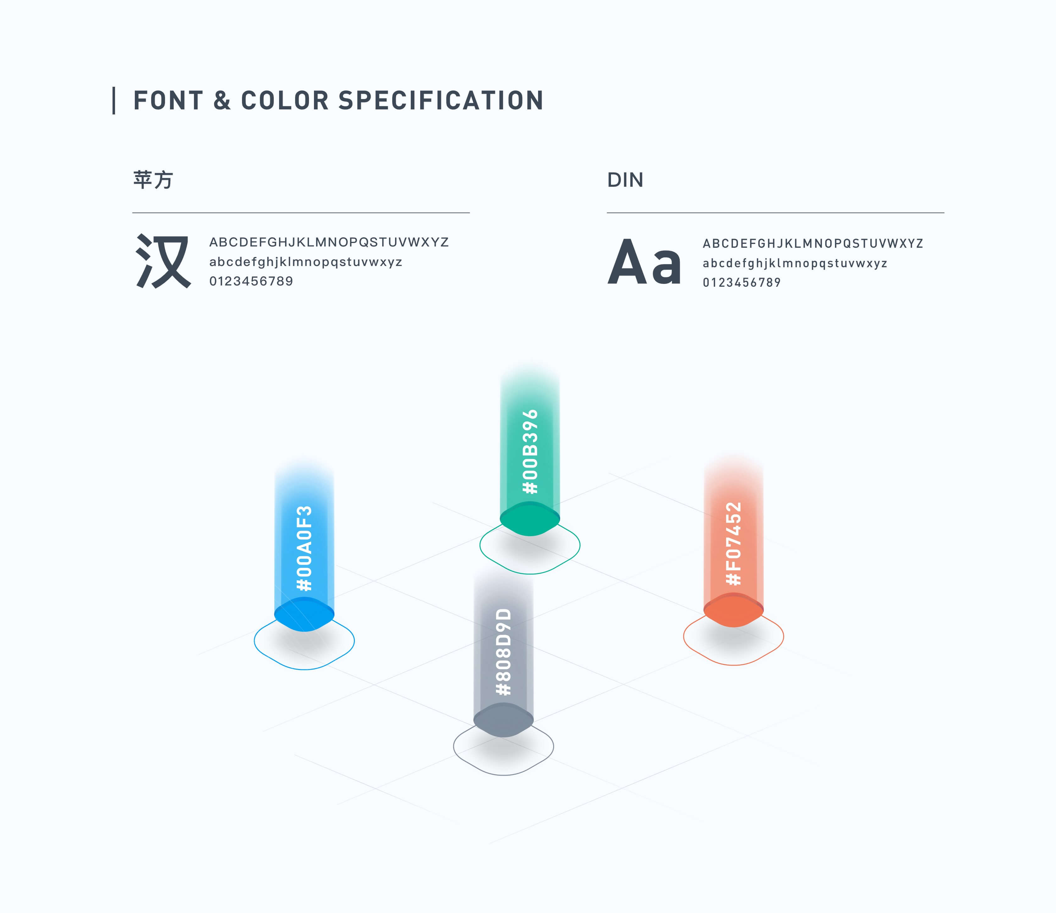 FONT & COLOR SPECIFICATION